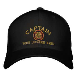 Personalized Firefighter Captain Cap Embroidery