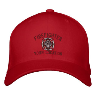 Personalized Firefighter Custom Cap Embroidery