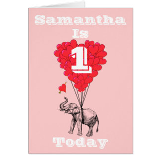 Personalized first Birthday Card