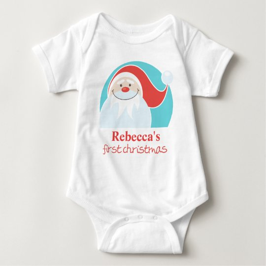 Personalized First Christmas Santa T-Shirt