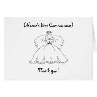 Personalized First Communion Note Card/Thank you