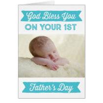 Personalized First Father's Day - God Bless Card