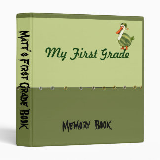 Personalized First Grade Book School Memory Binder