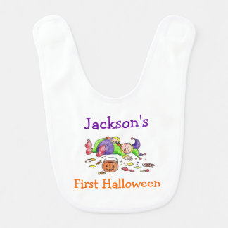 Personalized First Halloween Bib