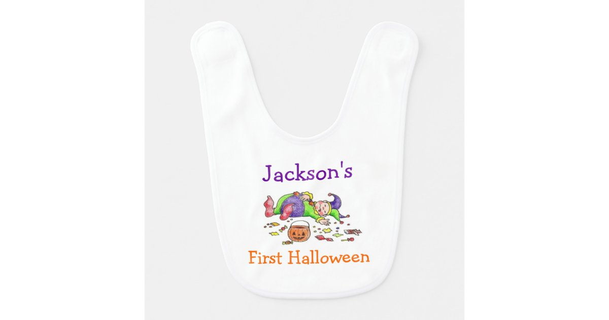 personalized first halloween bib zazzlecom