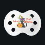 """Personalized First Halloween Pacifier<br><div class=""""desc"""">You can personalize this adorable pacifier with the word &quot;baby&#39;s&quot; or your child&#39;s name.</div>"""