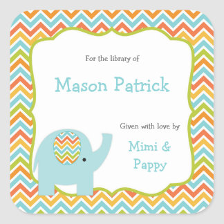 Personalized First Library book plate stickers