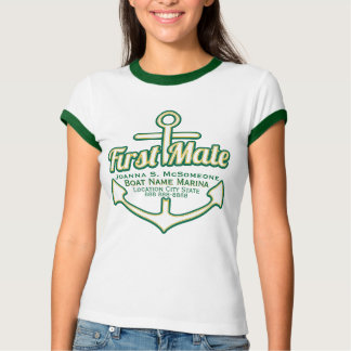 Personalized First Mate Anchor Nautical Tee