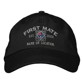 Personalized First Mate Nautical Australia Flag Baseball Cap