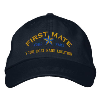 Personalized First Mate Star Ball Cap Embroidery