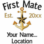 Personalized FIRST MATE Star YEAR Names Boat Hoody
