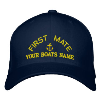 Personalized first mate  yacht crew embroidered baseball hat