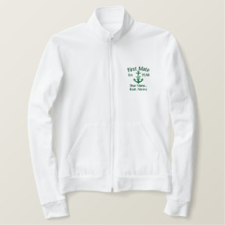 Personalized FIRST MATE YEAR Names Nautical Style Embroidered Jacket