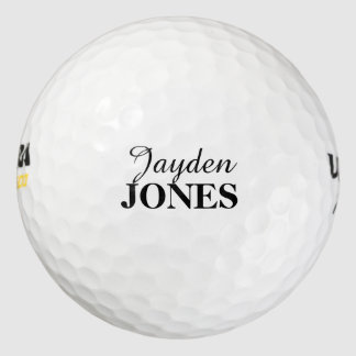 Personalized first name and surname golf ball pack of golf balls