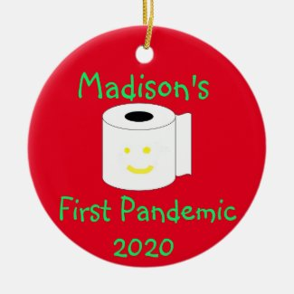 Personalized First Pandemic Ceramic Ornament