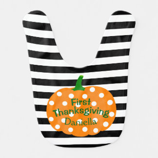Personalized First Thanksgiving Baby Bib