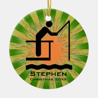 Personalized Fishing Ornament