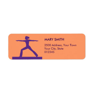 Personalized Fitness Return Address Label