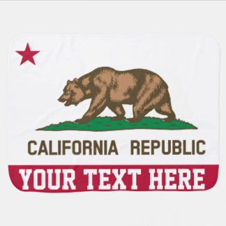 Personalized Flag of California Republic Baby Blanket
