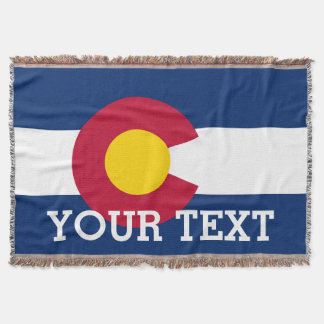 Personalized Flag of Colorado Throw