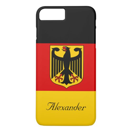 Personalized Flag of Germany with Coat of Arms Phone Case
