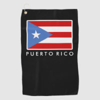 Personalized, Flag of Puerto Rico Golf Towel