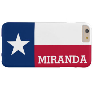 Personalized Flag of Texas Barely There iPhone 6 Plus Case
