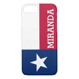 Personalized Flag of Texas iPhone 7 Case