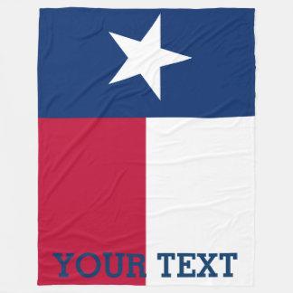 Personalized Flag of Texas Fleece Blanket