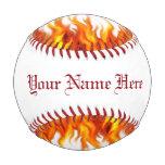Personalized Flaming Baseball