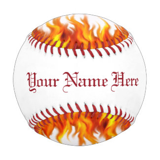 Personalized Flaming Baseball Baseballs