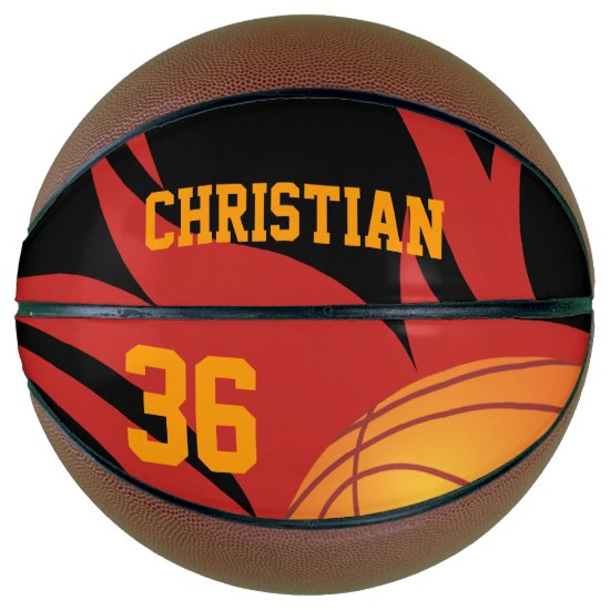 Personalized Flaming basketball