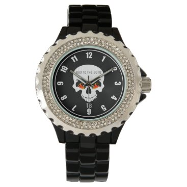 Halloween Themed (Personalized) Flaming Skull Wrist Watch