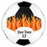 Personalized Flaming Soccer Ball