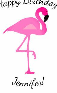 Personalized Flamingo And Polka Dot Gift Bag