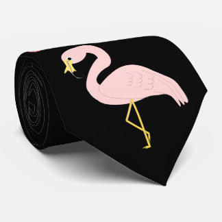 Personalized Flamingo Design Neck Tie