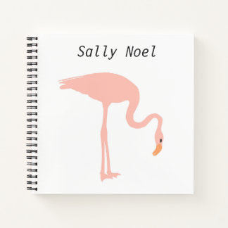 Personalized flamingo notebook