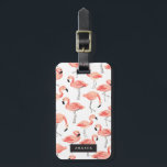 "Personalized | Flamingo Party Bag Tag<br><div class=""desc"">Hand painted pink flamingo pattern design by Shelby Allison.</div>"