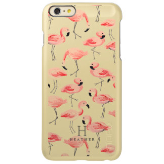 Personalized | Flamingo Party Incipio Feather Shine iPhone 6 Plus Case