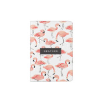 Personalized | Flamingo Party Passport Holder