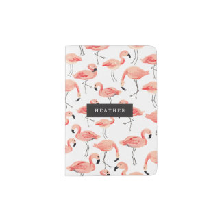 Personalized   Flamingo Party Passport Holder