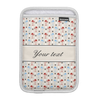 Personalized Flamingos and Polka Dots Pattern Sleeve For iPad Mini