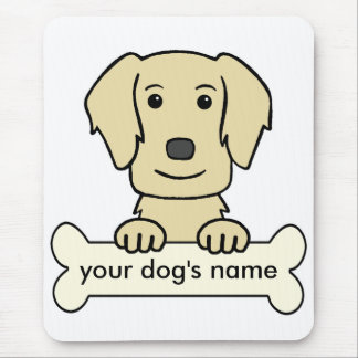 Personalized Flat-Coated Retriever Mouse Pad