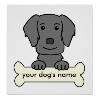 Personalized Flat-Coated Retriever Poster