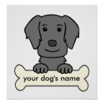 Personalized Flat-Coated Retriever Posters