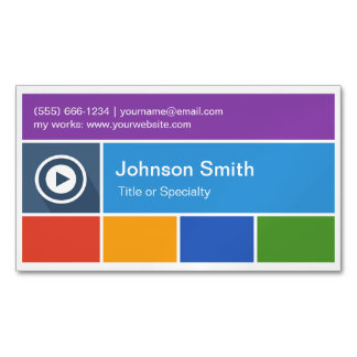 Personalized Flat Metro Style - Modern Creative Magnetic Business Cards (Pack Of 25)