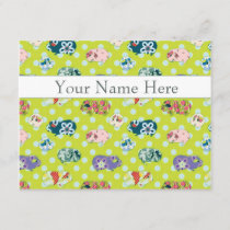 Personalized Flat Note Cards - Guinea Pigs