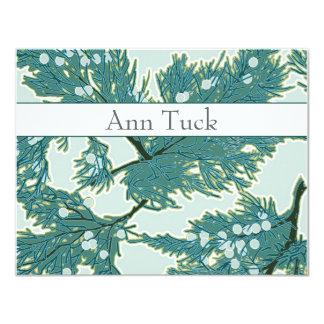 Personalized Flat Note Cards - Juniper Berries by