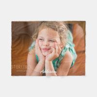Personalized Fleece Blankets Add Photo 30x40