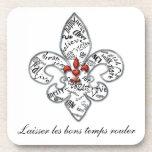Personalized Fleur de Lis Heartfelt Expressions Beverage Coaster